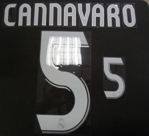 REAL MADRID PERSONALIZZAZIONE NOME NUMERO CANNAVARO 5