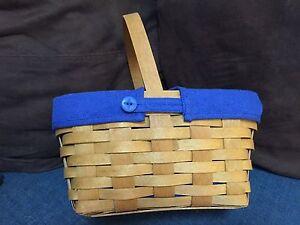 Longaberger-Basket-Blue-Liner-Spring-Edition-2009-EUC