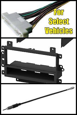 GM Single Din Aftermarket Car Stereo Radio Install Dash Mount Trim Kit Combo