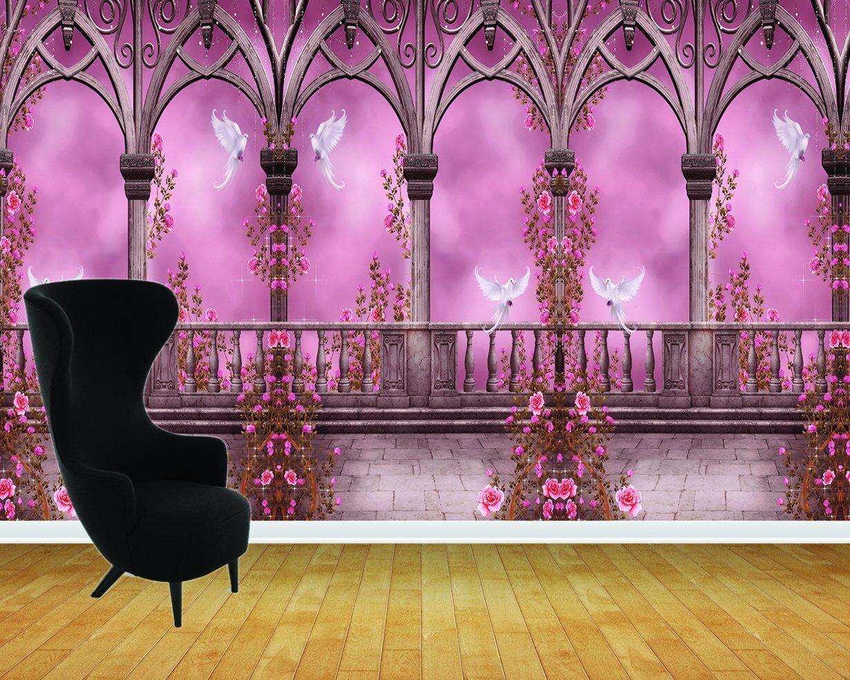 Enchanted Castle Arches Ballroom Ballroom Ballroom Wall Art Mural Adhésif Vinyle Papier Peint | Beau  | La Mode De  | Attrayant De Mode  4db021
