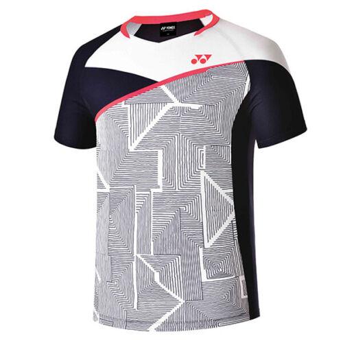 YONEX 19 F//W Men/'s Round T-Shirts Badminton Apparel Clothing White NWT 93TS037M
