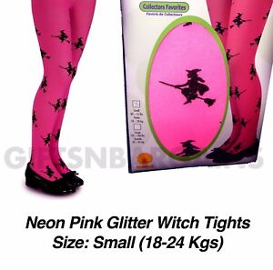 c0a5c1b4d1a14 Image is loading Pink-Glitter-Witch-Halloween-Tights-Child-Kids-Girls-
