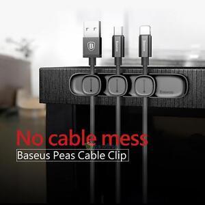Magnetic-Cable-Clip-Base-Organizer-Wire-Cord-Management-Winder-Line-Holder-Black