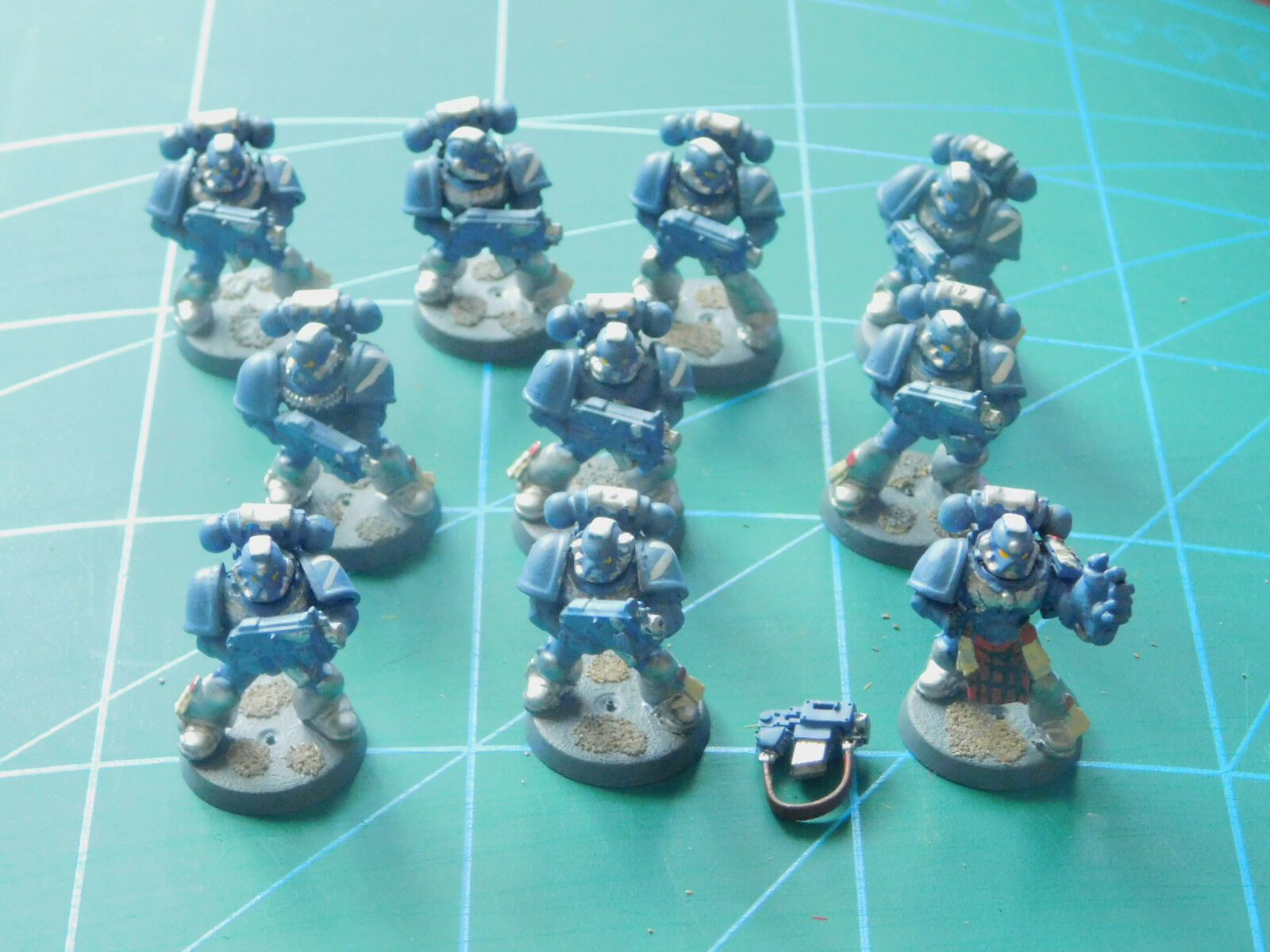 10 10 10 warhammer 40k dungeons dragons space marine painted plastic figures 52bd3a
