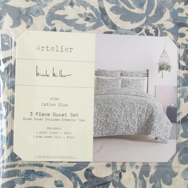 Nicole Miller Comforter Set, Nicole Miller Artelier Bedding Blue