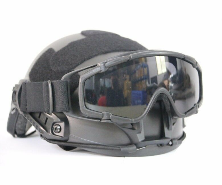 Outdoor Airsoft Ballistic tactical Goggle for Tactical Helmet anti-fog lens