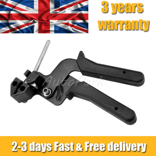 Metal Stainless Steel Cable Tie Fasten Gun Pliers Crimper Tensioner Cutter Tool