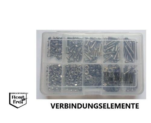 Linsenkopfschrauben Sortiment//Set ISO 7380 M4 mit TORX 400 Teile EDELSTAHL A2