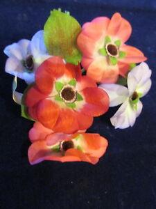 Sonstige Vornehm Vintage Millinery Blume 7cm Dreifarbig Rosa Lila Für Hut Hochzeit Haare Y257