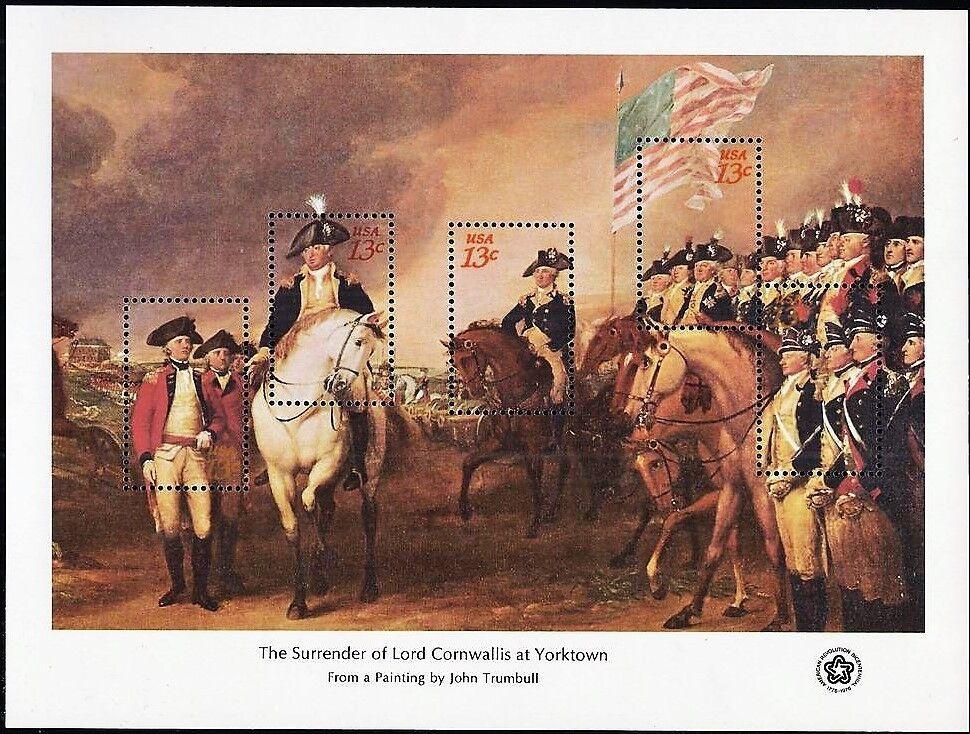 1976 13c Surrender of Lord Cornwallis, Souvenir Sheet o