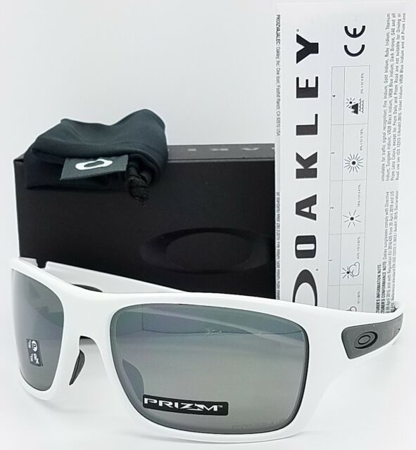 89c67ba9446 NEW Oakley Turbine sunglasses White Prizm Black Polarized 9263-55 AUTHENTIC  NIB
