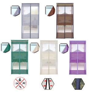 Magnet-Fliegengitter-Tuer-Insektenschutz-Moskitonetz-Fliegenvorhang-Klettband