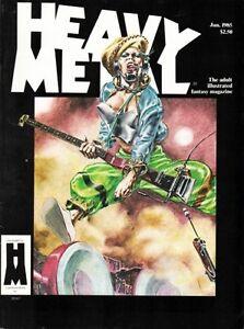HEAVY METAL VOL 8 NUMBER 10 JAN 1985 DREW FRIEDMAN CHARLES BURNS MILO MANARA