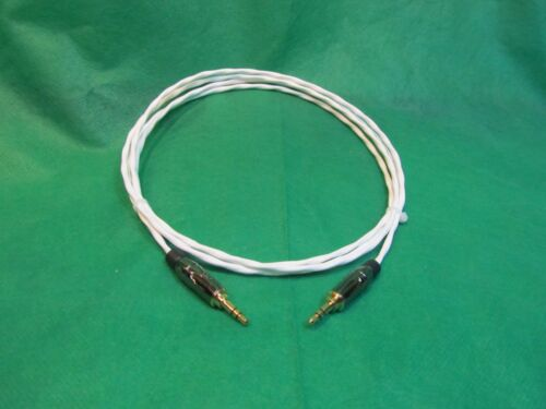 "2 Ft SILVER PLATED 3.55 MM 1//8/"" Stereo AUX Auxiliary Cable for iPod MP3 Cable."