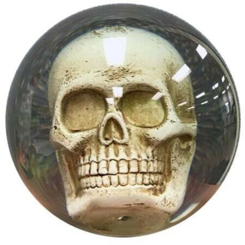 14lb KR Strikeforce Clear SKULL Polyester OTB Bowling Ball FIRST QUALITY