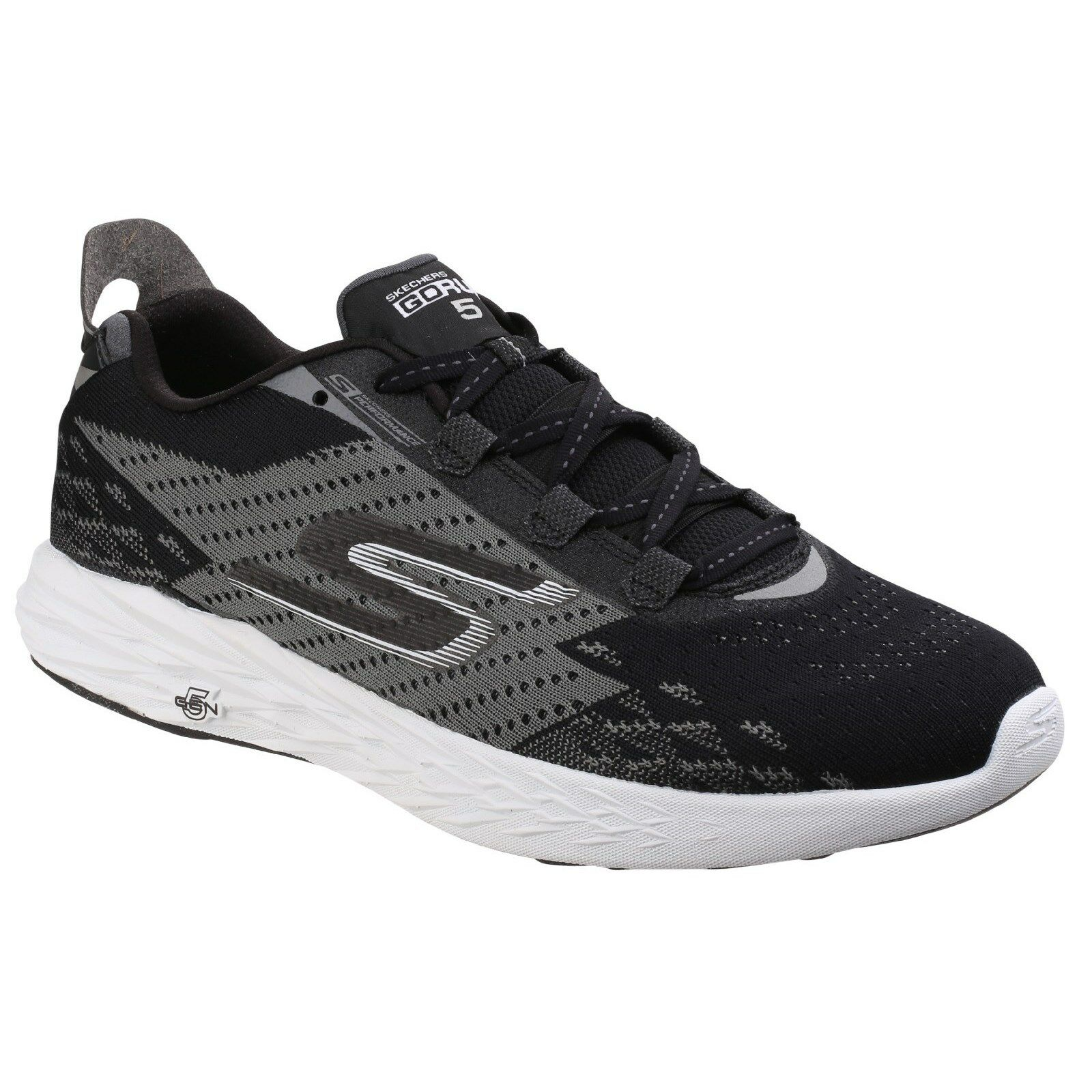 Skechers Go Run 5 Trainers Memory Foam Sports Knit Running Mens Sneakers shoes