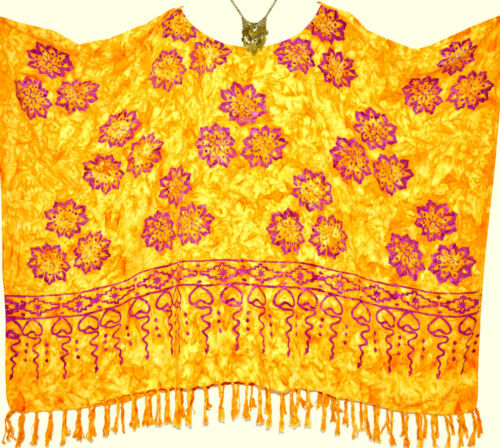 JASMINE Poncho Top Tunika einheitsgröße Plus Hippie überdimensional Baggy