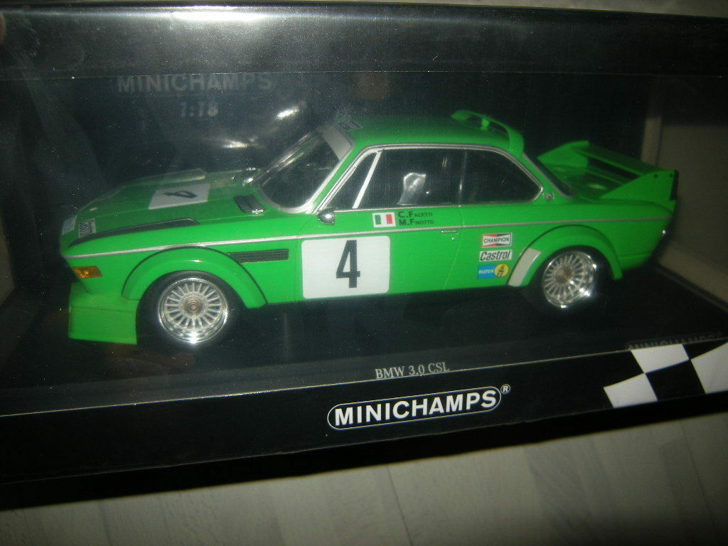 1 18 Minichamps BMW 3.0 CSL Winners ETCC 1979 no 155792504 Boxed