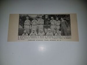 f565a11d4df2 Carlton Academy Summit New Jersey 1911 Baseball Team Picture SP RARE ...