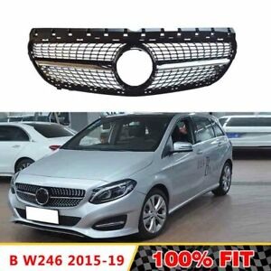 Front-Racing-Diamond-Grills-Billet-Bumper-Grille-Cover-For-Mercedes-B-Class-W246