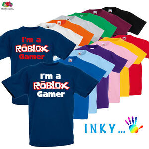 childrens roblox gamer t shirt boys girls online gaming wii xbox ps4