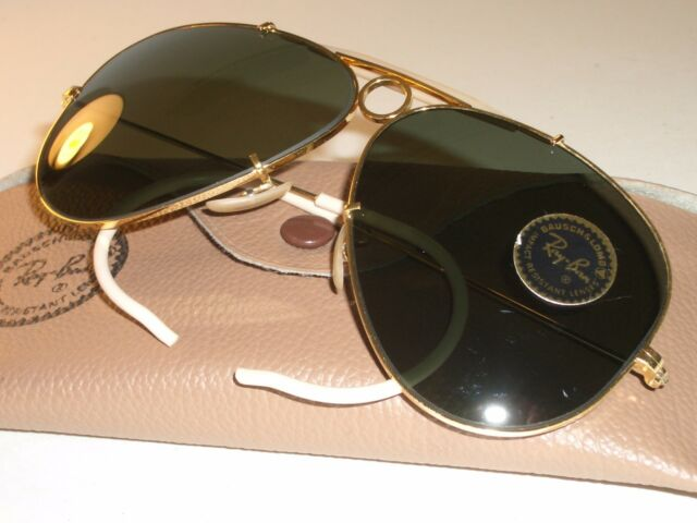 a6040f7daf CIRCA 1960 s B L RAY-BAN GOLD PLATED BULLET HOLE SHOOTER AVIATOR SUNGLASSES  NEW
