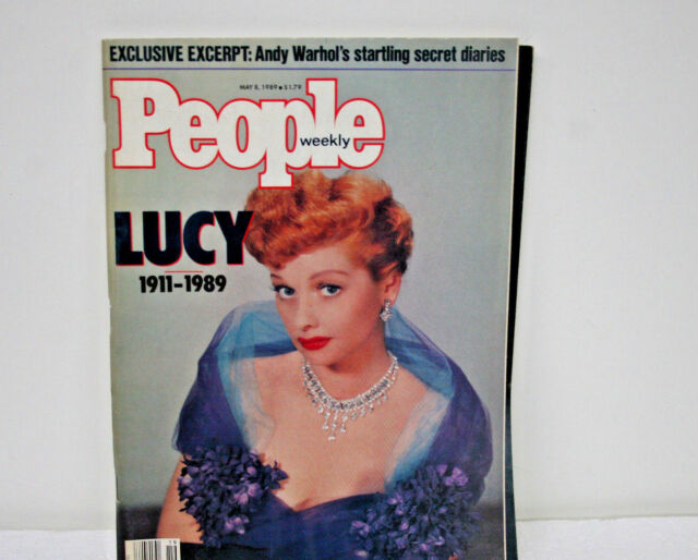Vintage People Magazine Weekly  LUCY May 8, 1989  & Andy Warhol's Secret diaries