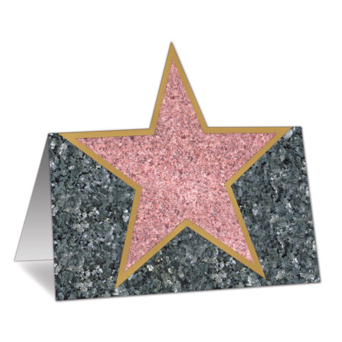 12 Hollywood Boulevard Stars Place Party Table Decoration Place Cards