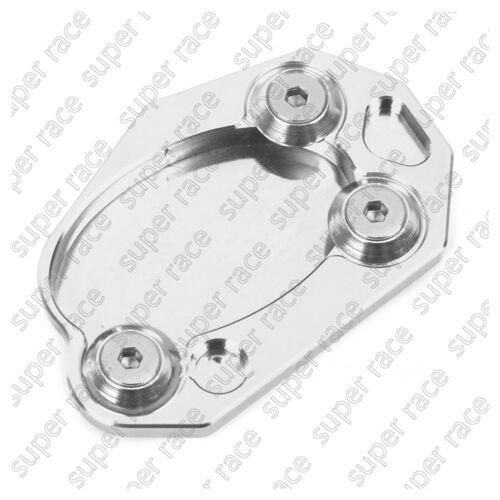 8 Color CNC Side Stand Kickstand Enlarge Plate Pad For Kawasaki ER6N//ER6F 06-15