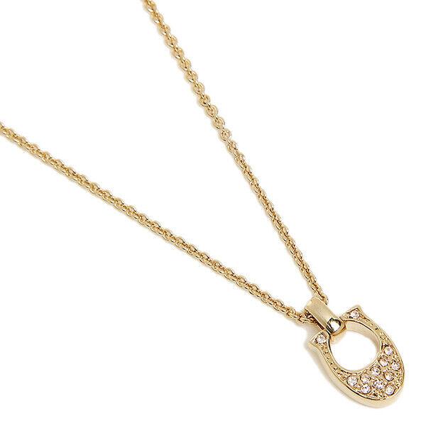 a262d9e2fb8a8 Coach F54517 Pave Signature C Rose Gold Necklace