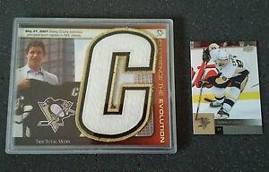 Details About Pittsburgh Penguins Sidney Crosby Jersey Card Patch Sp Gem 11 Stanley Cup
