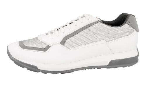 New Prada 43 lusso White 43 New 4e3020 5 Sneaker Scarpe Silver di O0wpqOS
