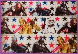 2-metres-STAR-WARS-22mm-Ribbon-7-8-C3po-Grosgrain-Hair-Sewing-Cake-Deco
