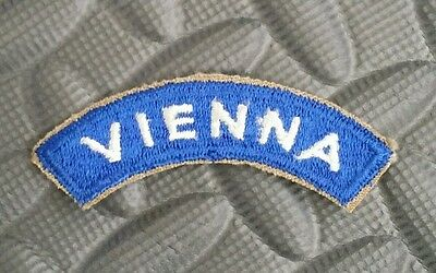US Army Vintage Cut Edge Patch Tab VIENNA WWII Original New Old Stock Item