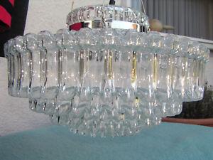 Seltene-Haenge-Lampe-Kronleuchter-Glashuette-Limburg-Kristall-Chrom-Luxus-Edelst