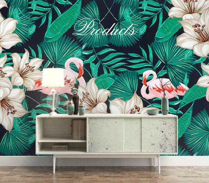 3D Flamingo N1546 Wallpaper Wall Mural Removable Self-adhesive Sticker Amy