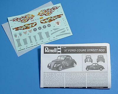 Models & Kits The Cheapest Price Revell 1937 Ford Coupe Street Rod Decals & Instructions 1/25 Scale