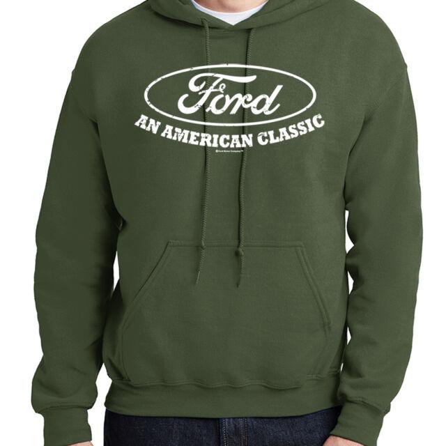 Ford Trucks Old Sign Licensed Hoodie American Classic Built Tough Sweatshirt