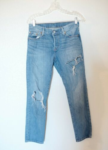 Levis 501 CT Jeans Womens Size 25 Distressed Taper