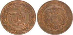 German East Africa, 1 Pesa 1890, Doa (10) Xf-Bu , Kupferpatina 46634
