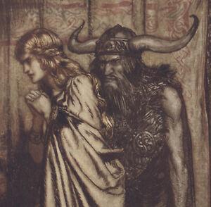 Viking Hagen Angry Wife Wagner Ring Arthur Rackham 1911