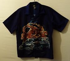 "City Impact Coche Dragón Camisa Hawaiana Reino Unido M Us S Pecho 42"" 107 cm corto Fit H202"