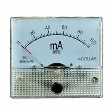 3x DC Amperometro Analog Panel Amp Meter Current Pointer 0-100mA 50mA 0-5A