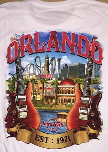 Hard-Rock-Cafe-ORLANDO-2017-White-City-Tee-T-SHIRT-Adult-Sm-2X-New-with-Tags-V17