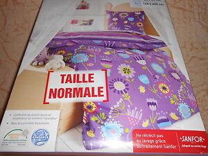 parure-de-lit-housse-de-couette-taie-1-personne-violet-imprime-neuve
