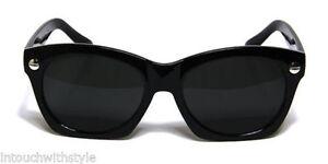 Fashion-Square-Sunglasses-Black-Vintage-Designer-Men-Women-Style