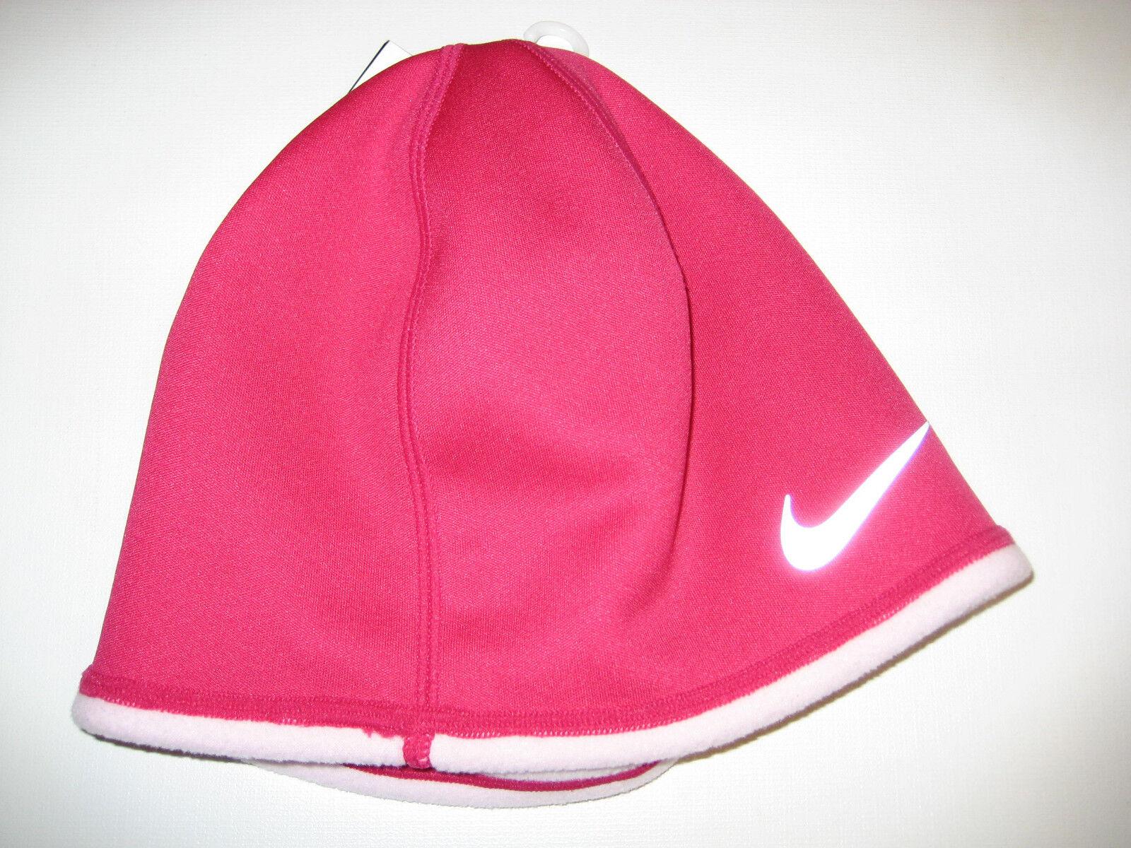 98ce88cf4 Girls Nike Therma-fit Fleece Beanie Hat Pink Reversible Snow Skiing Running  OSFM