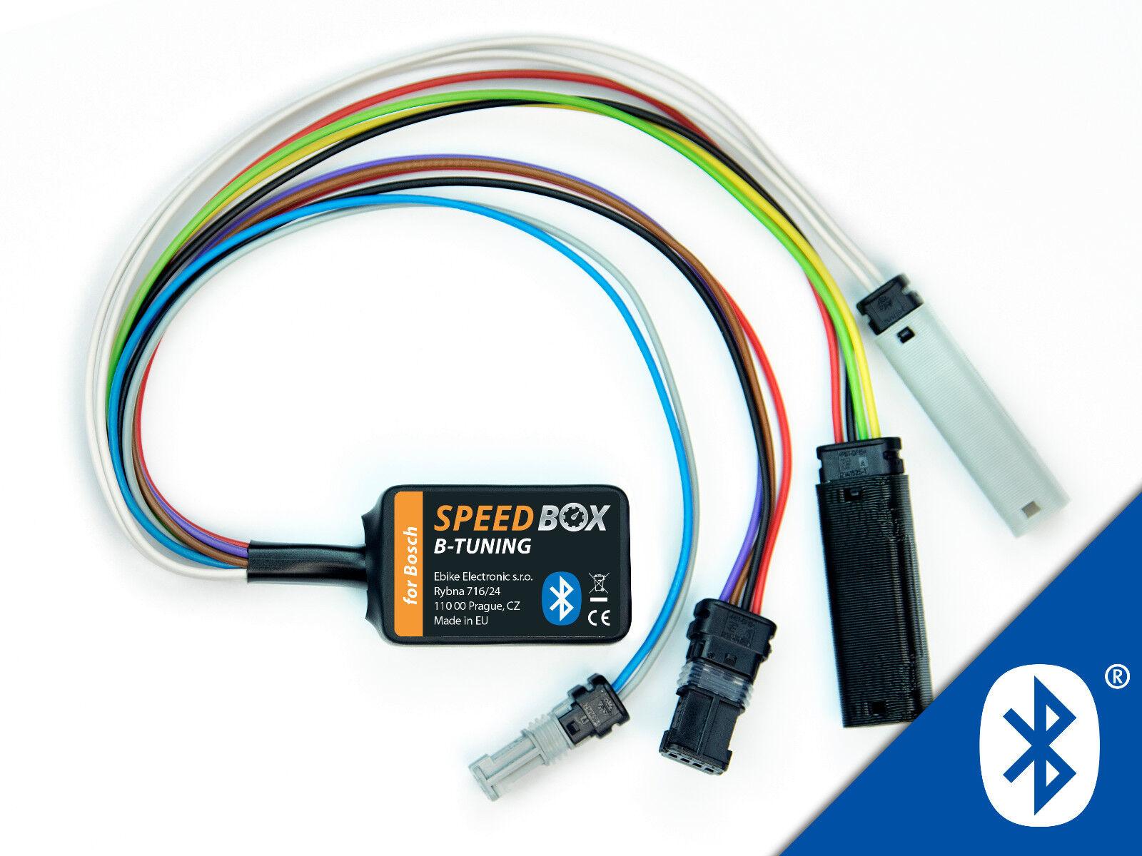 Speedbox B-tuning para ebike Bosch-motores, conexión rueda con teléfono móvil sobre app