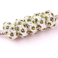 Fashion 5pcs Silver CZ nest big hole Beads Fit European Charm Bracelet DIY #A100
