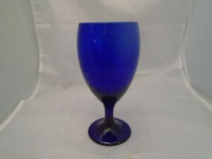 Set of 12 Libbey Premiere Cobalt Iced Tea Goblet Beverage Glasses